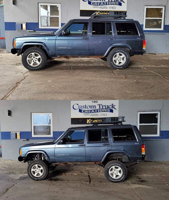 2001 Jeep Cherokee Sport with a 6.5 inch Rough Country Lift