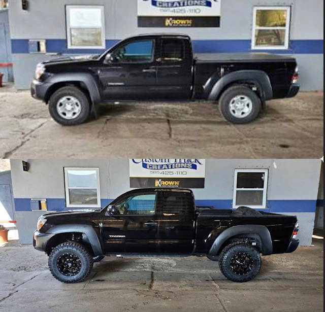 2014 Toyota Tacoma with a 3 inch Rough Country lift with Moto Metal Wheels