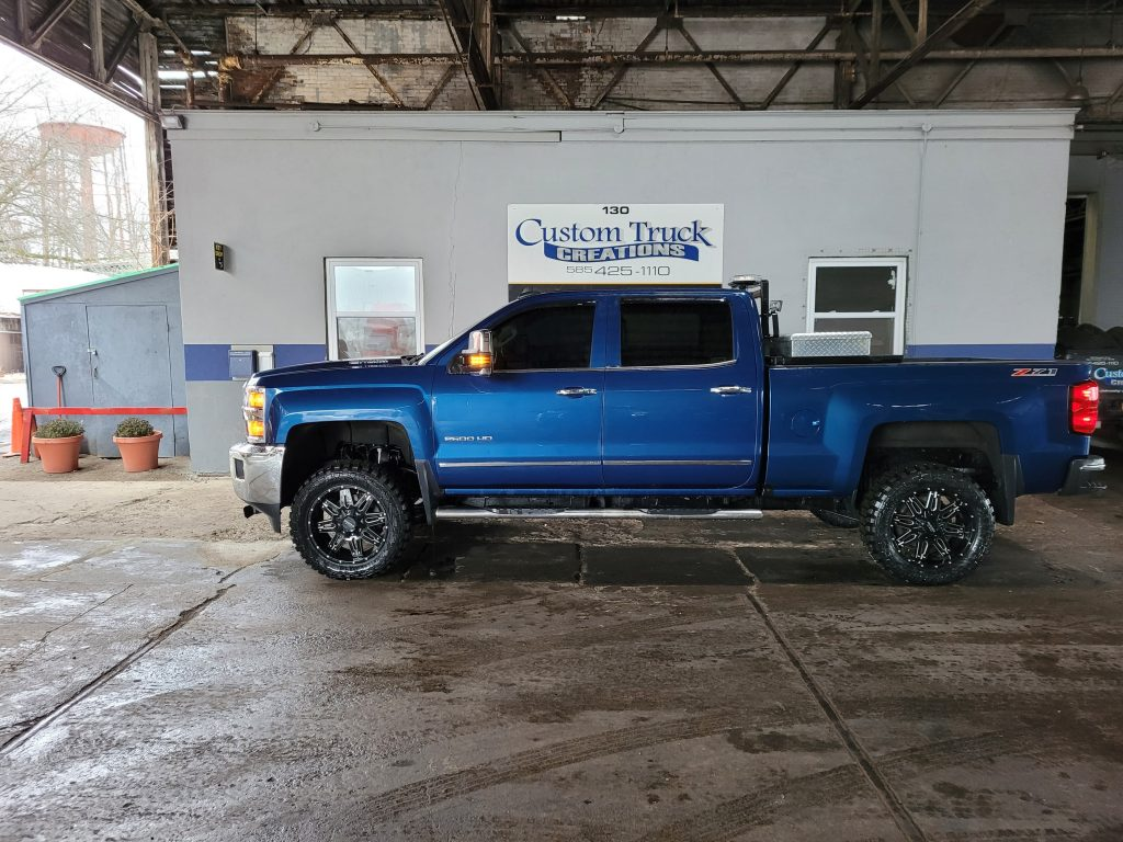 Chevy Silverado with a 5 inch rough country lift with 35 inch tires