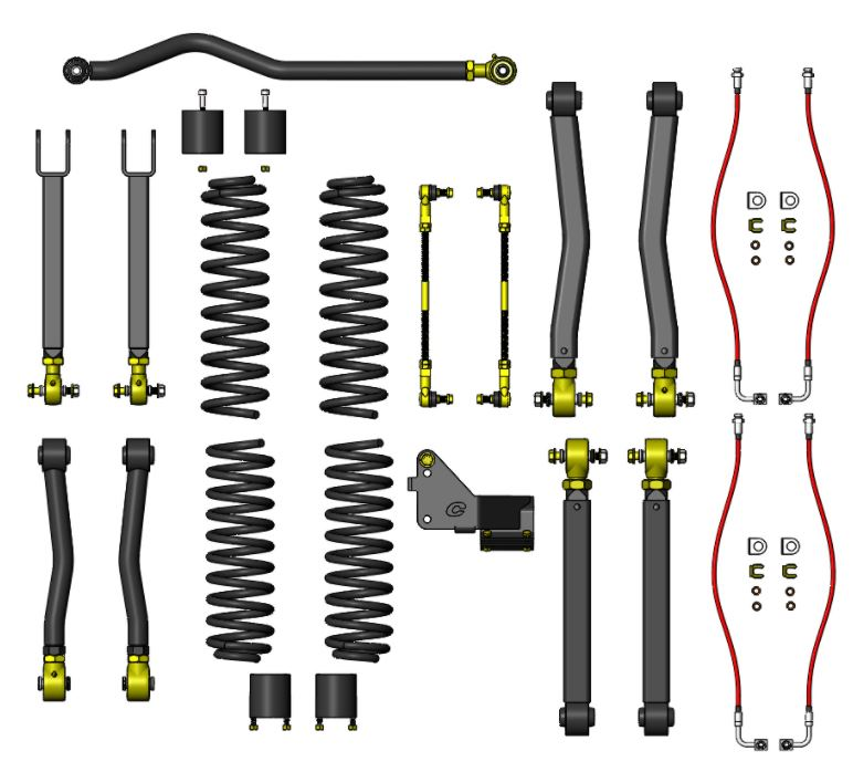Clayton Offroad 3.5 inch Jeep Wrangler Lift Kit Image