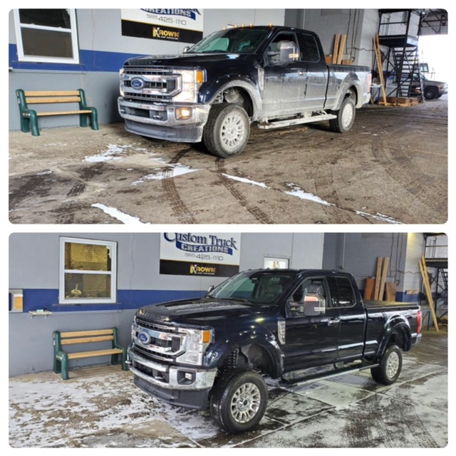 Ford F250 with a  BDS lift kit 4-inch front and 4.5 inch rear