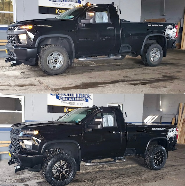 2020 Chevy Silverado Alaskan edition with a 3 inch Rough County lift & wheel and tire package