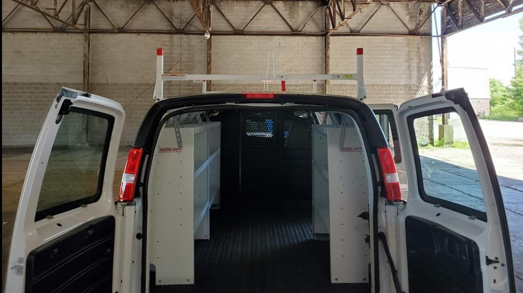 Shelving in contractor van