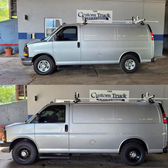 contractor van before after
