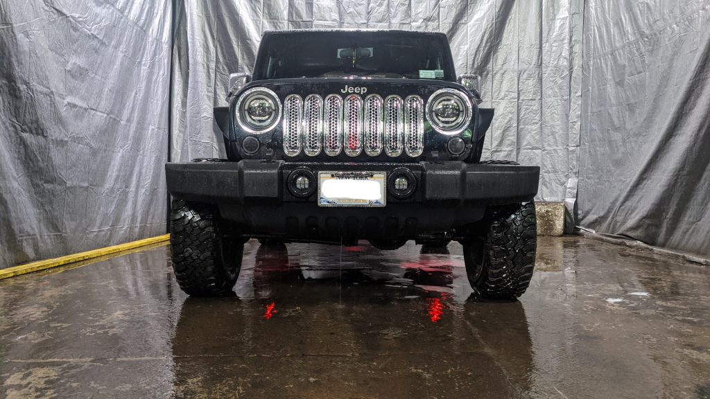 Jeep Wrangler with a light package