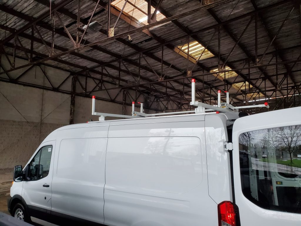 Contract Van with a Ladder Rack