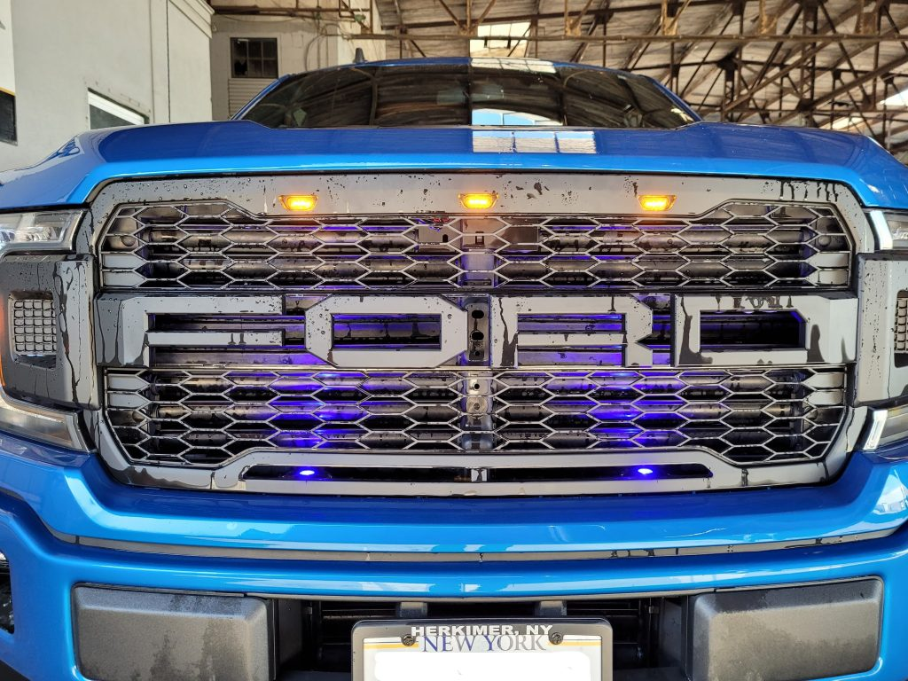 2019 F150 with a light package and aftermarket grille