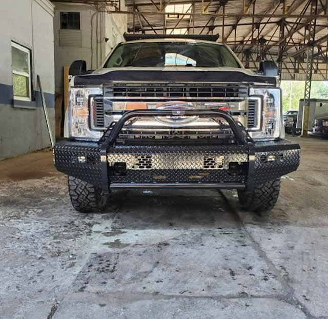 2017 Ford Super Duty with Ranch Hand Front & back bumpers and Rough Country Lights