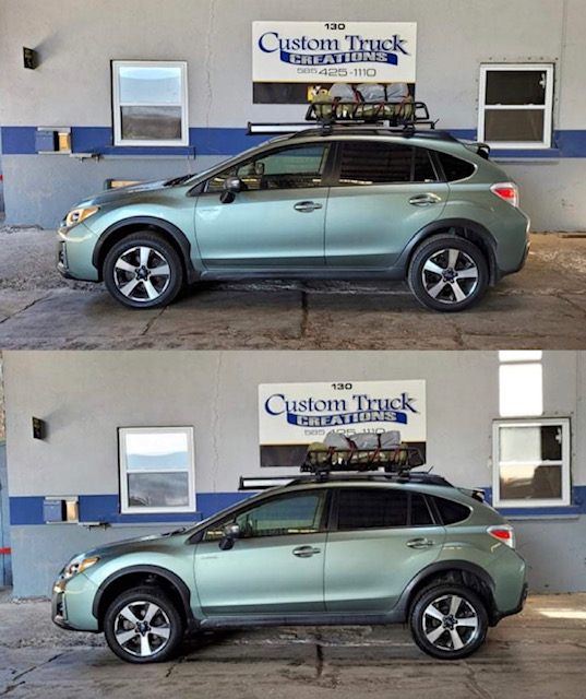 2016 Subaru Crosstrek with a 1.5in lift kit