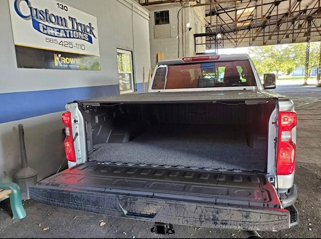 2022 Chevy Alaskan 2500 with a bed rug in the truck bed