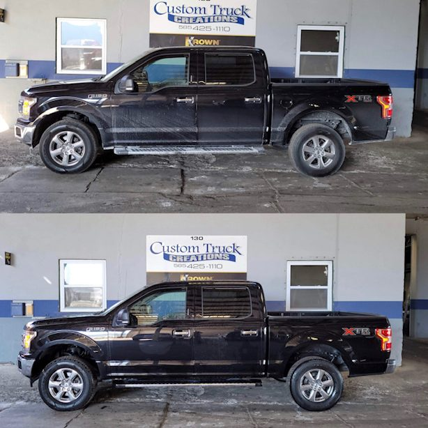 before and after leveling kit f150